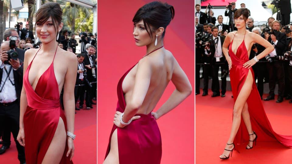 Bella Hadid y su (no) vestido rojo de Cannes