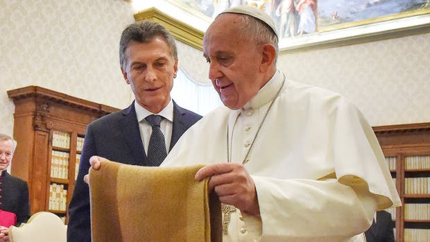 Macri y el Papa, en el encuentro de febrero pasado