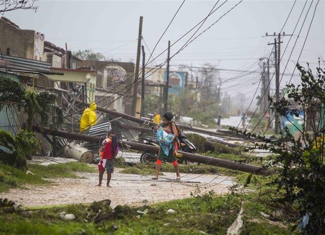 En Caibarien, un pueblo cubano, Irma provocó destrozos