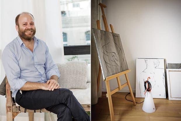 """""""Mi mujer es curadora de arte, pero los únicos cuadros que hay acá son míos. Creo que tiene algo que ver con no llevar el trabajo a casa"""".  Foto:Living /Daniel Karp"""