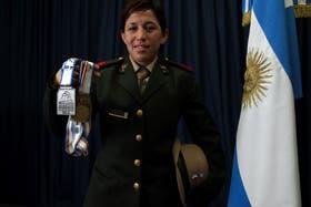 Bermúdez, con su traje de Gendarme / Aníbal Greco, La Nación