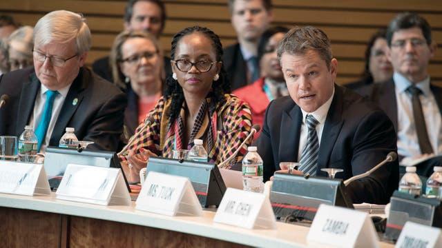 El actor participó en Washington de una reunión del FMI y el Banco Mundial, en abril último