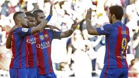 Barcelona gana con Messi en el banco