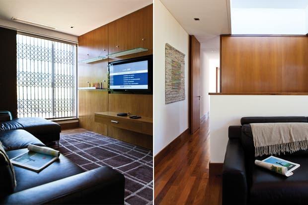 """El pasillo que comunica con el """"loft"""" del dueño de casa, con su vestidor y baño en suite.."""