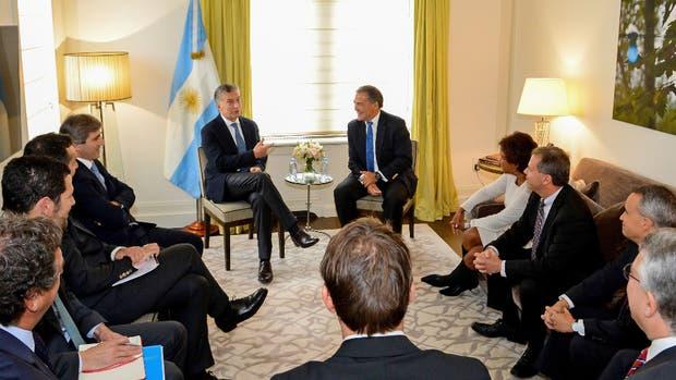 Macri, ayer, reunido con empresarios en el último día de su visita a Nueva York