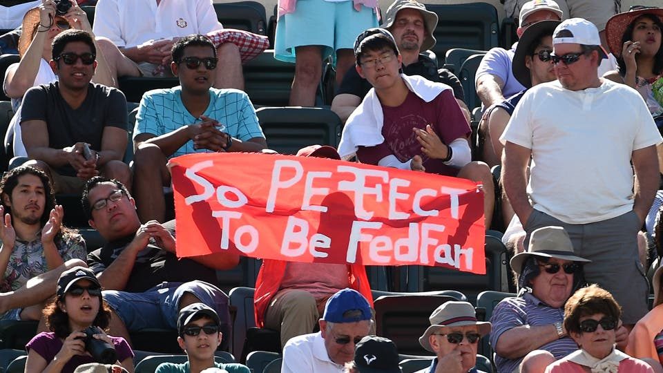 Gran triunfo de Roger Federer ante  Wawrinka. Foto: AFP