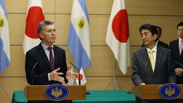 Al finalizar el encuentro, los mandatarios dieron una conferencia de prensa