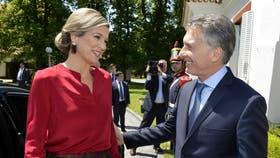 Mauricio Macri y la reina Máxima