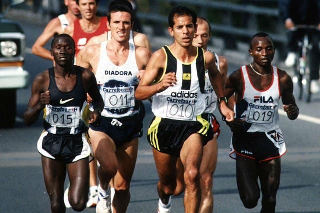 Antonio Silio en la Maratón Carrefour