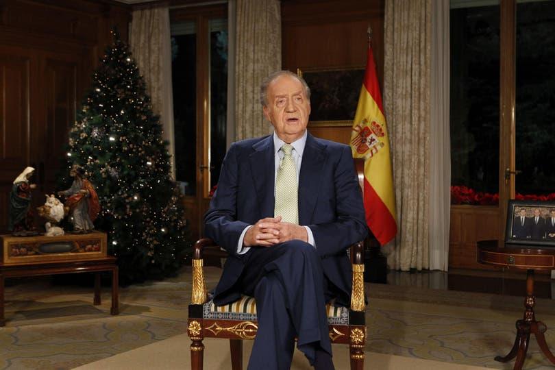 El Rey Juan Carlos de España transmitió su tradicional saludo de Navidad. Foto: EFE