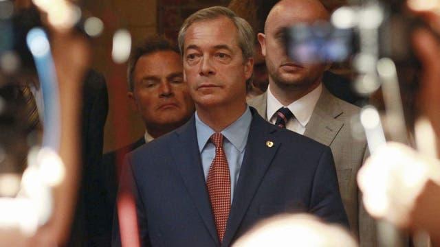 El líder nacionalista y eurodiputado Nigel Farage