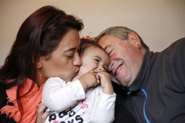 Gisela de Antón y su marido, Claudio, después de años, lograron tener a Felicitas
