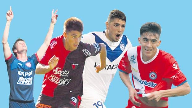 Soldano, Leguizamón, Romero y González, los goleadores que vienen