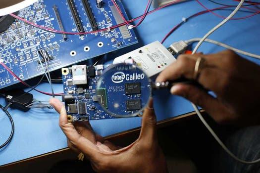 Una vista de la microcomputadora Galileo de Intel. Foto: Gentileza Intel