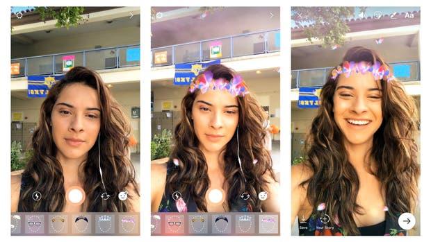 Así se ve la nueva función de máscaras de Instagram en Stories