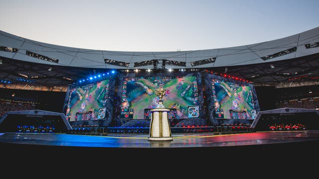 La vista del público que asistió a la final de League Of Legends