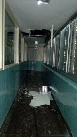 Así quedaron los pasillos del Hospital de Niños