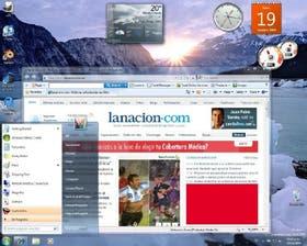 Alternando entre aplicaciones en Windows 7; el escritorio del nuevo sistema operativo