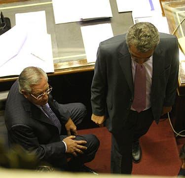 El Presidente de la Cámara, Eduardo Fellner y El Diputado Agustín Rossi. Foto: LA NACION / Ricardo Pristupluk