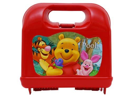 Lunchera de Winnie Pooh y sus amigos ($23 en Hiperlibrería Koruya). Foto: lanacion.com