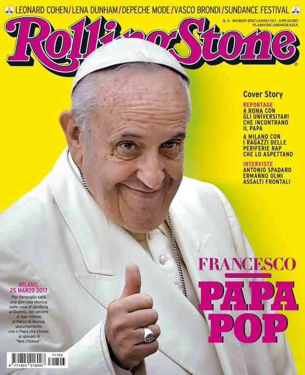 El Papa tapa de la Rolling Stone en Italia