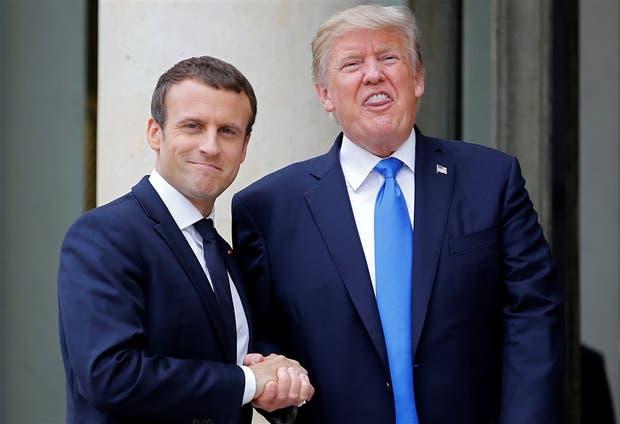 Macron y Trump, ayer, en el Palacio del Elíseo