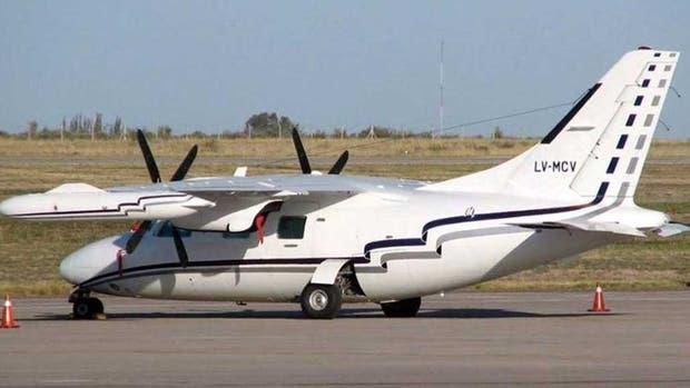 La avioneta, un turbo hélice bimotor marca Mitsubishi matrícula LV MCV, salió el lunes de San Fernando y tenía como destino Las Lomitas, Formosa