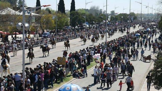 Festejos de la 72 Peregrinación Gaucha en Luján, el año pasado
