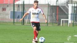 Montiel lleva nueve partidos en primera división con la camiseta de River