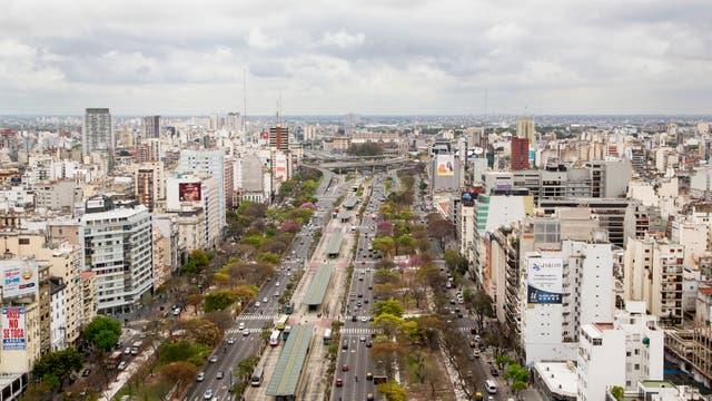 Desde lo alto se ve el Río de la Plata