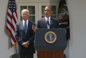 Obama y Biden se presentaron en los jardines de la Casa Blanca para buscar el respaldo del Congreso y así atarca a Siria