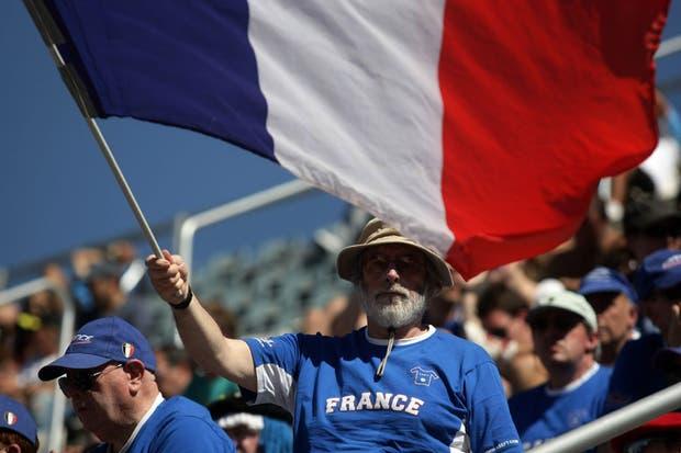 La hinchada francesa.  Foto:LA NACION /Mauro Alfieri