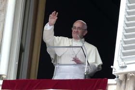 El Papa Francisco durante el Angelus de este domingo