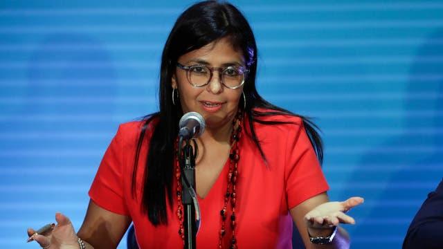 """En su última participación, la ahora ex canciller Delcy Rodríguez calificó de """"fanáticos intolerantes"""" a sus homólogos"""