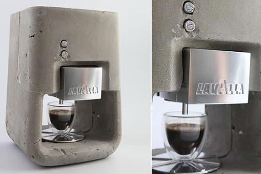 Cafetera de hormigón: dura para toda la vida.... Foto: http://trecool.es