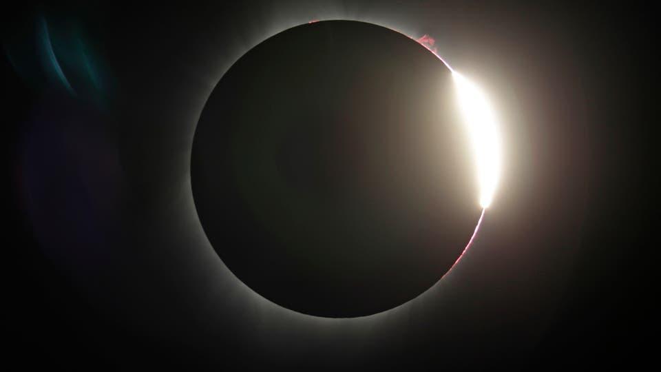 El eclipse en Oregón. Foto: AP