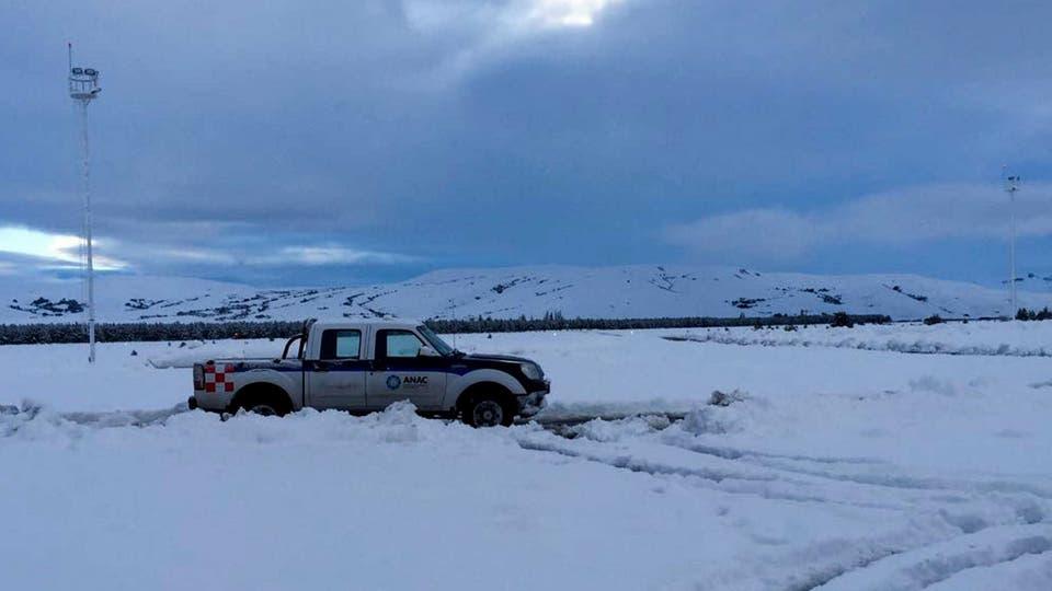 Fuertes nevadas en Chapelco. Foto: Télam