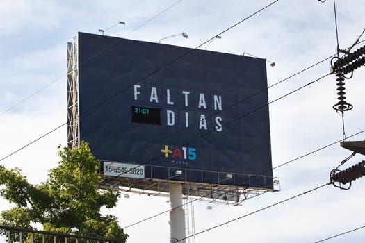 El famoso contador de Massa sobre la Panamericana ya no funciona. Foto: LA NACION / Matias Aimar