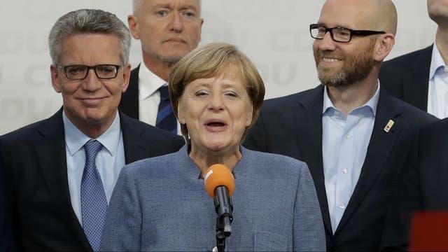 La canciller alemana, Angela Merke logró hoy su cuarto mandato consecutivo