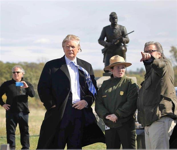 Trump, ayer, durante una visita al parque Militar Gettysburg, Pensilvania