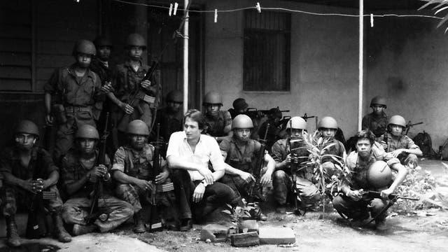 Kasanzew cubriendo la guerra civil en Nicaragua