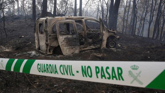 El estremecedor relato de un policía que quedó atrapado en las llamas de Galicia