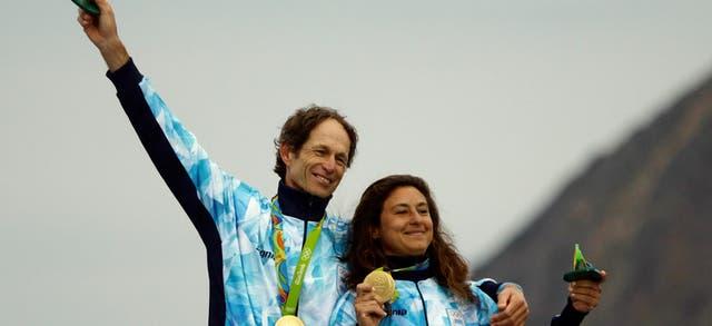 Santiago Lange y Cecilia Carranza, los primeros campeones olímpicos en una clase mixta