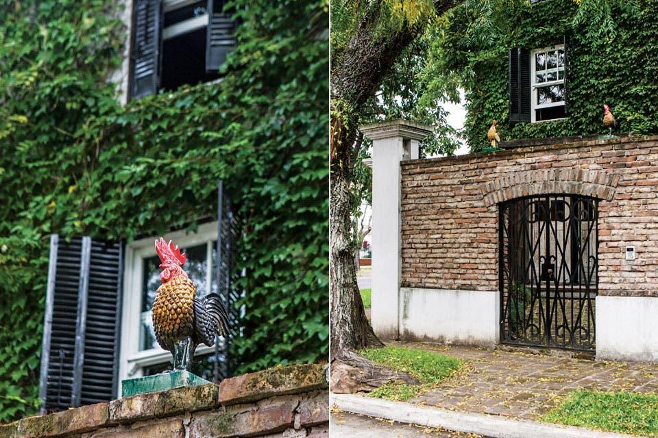 """""""Compré esta casa porque me gustaron los herrajes de las puertas y la escalera. El resto lo hice todo. También el muro, que armamos con ladrillos que traje desde San Andrés de Giles"""".  Foto:Living /Santiago Ciuffo"""