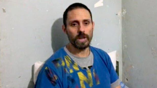 Pérez Corradi en el video en el que responde las preguntas de algunos medios, entre ellos LA NACION