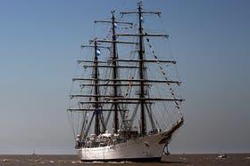 La Fragata Libertad se encuentra en el puerto de Tema, en Ghana, desde el pasado 2 de octubre