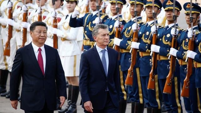 Mauricio Macri cena con Xi Jinping en el cierre de su visita oficial a China. Foto: Reuters