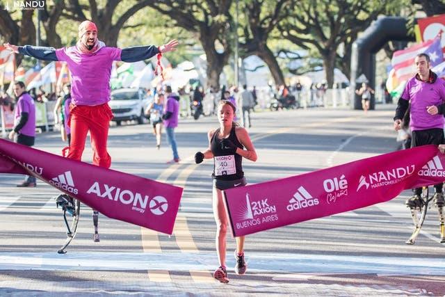Florencia Borelli, última ganadora de los 21k de Buenos Aires