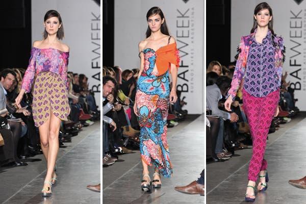 Garza Lobos optó por combinar estampados de distintos colores. Foto: Prensa BAFWEEK