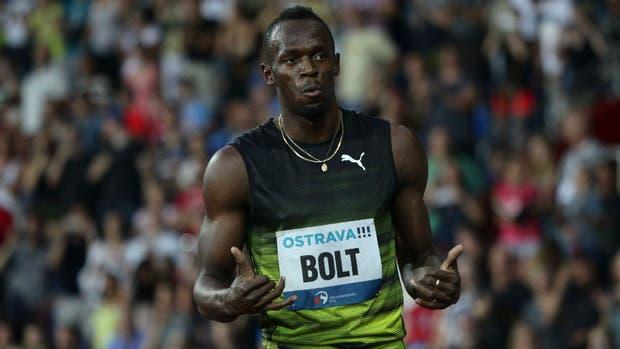 Bolt, en Ostrava, en una de sus últimas presentaciones